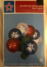 25 Led G30Globe with star lights independence 4th July