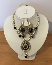 Indian Bridal Tribal Dance Ethnic Mughal Necklace Set Costume Jewellery