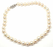 Rare! Vintage Mikimoto 9k Gold Akoya Cultured Pearl Graduated Necklace Paper