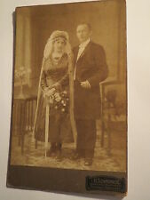 Herrnhut u. Bernstadt Sa. - 1921 - Hochzeit - stehendes Paar - Frau & Mann / KAB