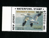 US Duck New Jersey Stamps # 12b XF Governors edition OG NH Scott Value $140.00