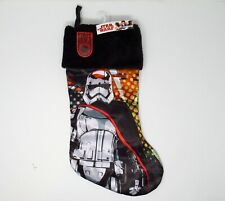 New Kurt S. Adler Disney Star Wars Captain Phasma Kids Black Christmas Stocking