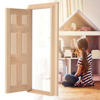 1:12 Doll House Mini Wooden Door for Dolls DIY Dollhouse Furniture Accessories