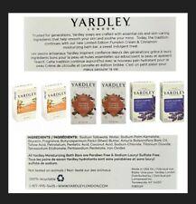 Lot Of 6,4.25oz Bars Assorted Yardley Soaps, Shea, Pumpkin Cream, Lavender
