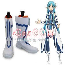 Sword Art Online 2 Calibur Yuuki Asuna Vaporeon Cosplay White Boots Shoes S008