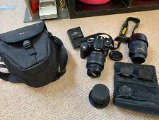Nikon D5100 Camera, Bag and Various Lenses