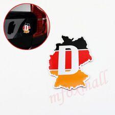 Auto Accessories Decal Sticker 3D Germany DE Map Style Emblem Badge Chrome Trim