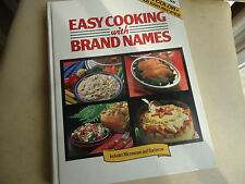 1987 Lorraine Greey Easy Cooking with Brand Names Book Hard Back