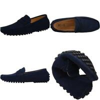 Jions Mens Driving Penny Loafers Suede Moccasins Slip On Casual Dress Boat Shoes