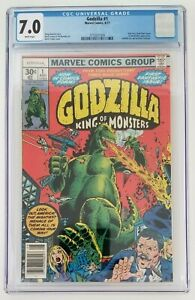GODZILLA #1 - CGC 7.0 White Pages - KEY FIRST APPEARANCE IN COMICS - Marvel 1977