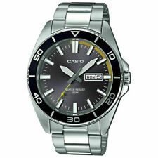 Casio MTD120D-8A Mens Analog Silver Black Stainless Steel Sports Watch 50m Diver