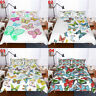 Color Butterfly Single/Double/Queen/King Size Bed Quilt/Doona/Duvet Cover Set