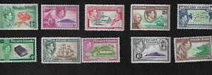 1940 Pitcairn Island KG6 Definitive Stamp Set SG1-SG8