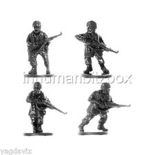 GLP09 RIFLEMAN x4 + BASE M GERMAN PARATROOPER LATE FLAMES OF WAR BITZ PSC 15mm