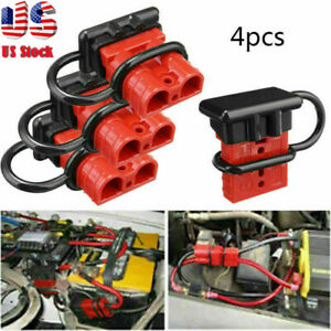 4 X  Quick Battery Connector Winch Trailer Connect/Disconnect Wire Harness Plug