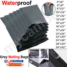 STRONG GREY MAILING BAGS SEAL PARCEL POSTAL POSTAGE PLASTIC POST POLY SELF MAIL