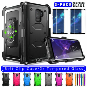 For Samsung Galaxy S9/S9+ Plus Shockproof Hard Rugged Case Cover with Belt Clip