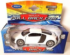 AUDI R8 V10 - Welly Diecast Replica Pull Back Car 1:35 - 1:39 Scale - Series 1