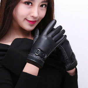 1Pair Full Fingers Winter Leather Gloves Winter Outdoor Fashion Touch Screen CH