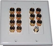HdtvHookup 7 Speaker Dolby Wall Plate Banana Jack Plug