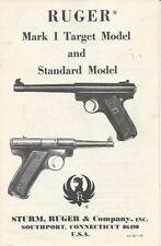 Ruger Mark 1 Target & Standard Model 22 Pistol 1976 Manual On cd