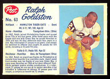 1962 POST CFL FOOTBALL 63 RALPH GOLDSTON NM HAMILTON TIGER CATS YOUNGSTOWN UNIV
