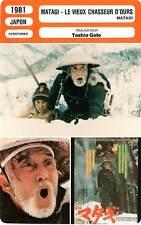 FICHE CINEMA : MATAGI LE VIEUX CHASSEUR D'OURS - Nishimura,Ban,Goto 1981
