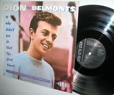 DION & the BELMONTS So Why Didn't You Do That the First Time lp PREV.UN-ISSUED
