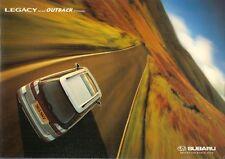 Subaru Legacy Estate 2.5 GX & Outback 2.5 1998-2000 UK Market Sales Brochure