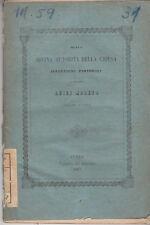 DELLA DIVINA AUTORITÀ DELLA CHIESA DI MONSIGNOR LUIGI MORENO VESCOVO IVREA 1867