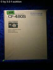 Sony Bedienungsanleitung CF 480S Radio Cassette Corder (#0658)