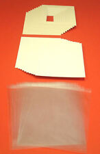 """100 SOFT WHITE PICTURE MOUNTS, BACK & BAG 9 x 7"""" for 7 x 5"""""""