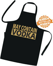 MAY CONTAIN VODKA / Cooks / Chefs full length APRON / Tabard / BIRTHDAY / BBQ