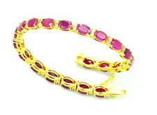 17.44ct Diamond & Ruby Bracelet in 14K Yellow Gold