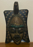 Vintage African Tribal Carved Painted Wooden Folk Art Mask - Ghana  - 17""