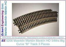EE 5206 EXC Marklin HO Big Radius Curve M Track Pack/3 Excellent Stubby 24.3°