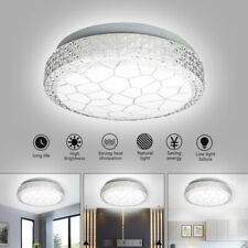 12W Led Ceiling Down Light Crystal Flush Mounted Bathroom Kitchen Living Fitting