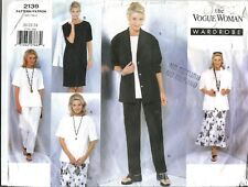 Vogue 'Wardrobe Sewing Pattern 2139, Jacket, Dress, Top,Pants, Skirt, Size 20-24