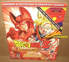 Dragon Ball Z Budokai Official Guide Book W/Exclusive DVD Brand New PS2 Gamecube