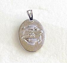 fashion1uk 12 Design Sun Sign Zodiac Pendant White Gold Plated Round Charm