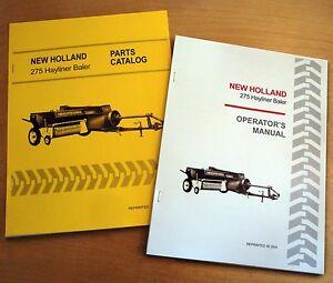 New Holland 275 Hayliner Baler Operator's AND Parts Manual Catalog Book NH
