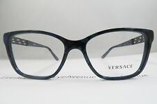 Versace MOD. 3192-B 5127 Black/Blue Marble New Authentic Eyeglasses 52mm w/Case