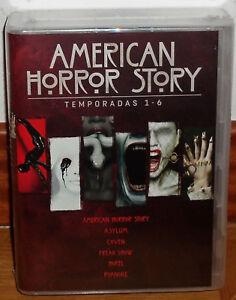 AMERICAN HORROR STORY 1-6 TEMPORADAS COMPLETAS 24 DVD NUEVO PRECINTADO SERIE R2