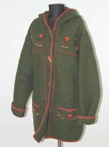 Giesswein Austria womens green 100% wool coat jacket Size GB 38 / 16