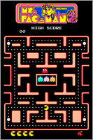 Ms. Pac-Man Authentic Arcade Marquee 24x36 Namco Video Game Giclee Art Poster