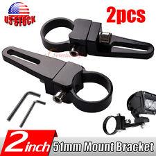 2x 2Inch 51mm Mount Bracket Clamps for LED Light Bar Rigid Bullbar HID TRUCK 2''