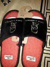 Homme Gris à Enfiler Mule Pantoufles Homer SIMPSON thème taille 11-12 neuf avec étiquettes