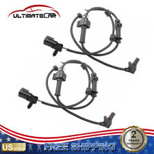 Pair Front ABS Wheel Speed Sensor For 2002-2009 Chevrolet GMC Buick 15158254
