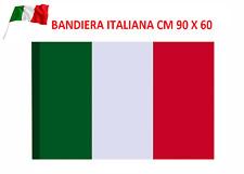 🇮🇹 BANDIERA NAZIONALE ITALIA ITALIANA TRICOLORE 60 X 90 CON ASOLA ASTA BALCONE