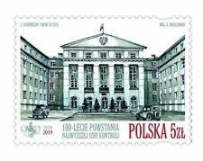 POLEN 2019 Stamp 100th Anniversary of the Supreme Audit Office(2019; Nr kat.:494
